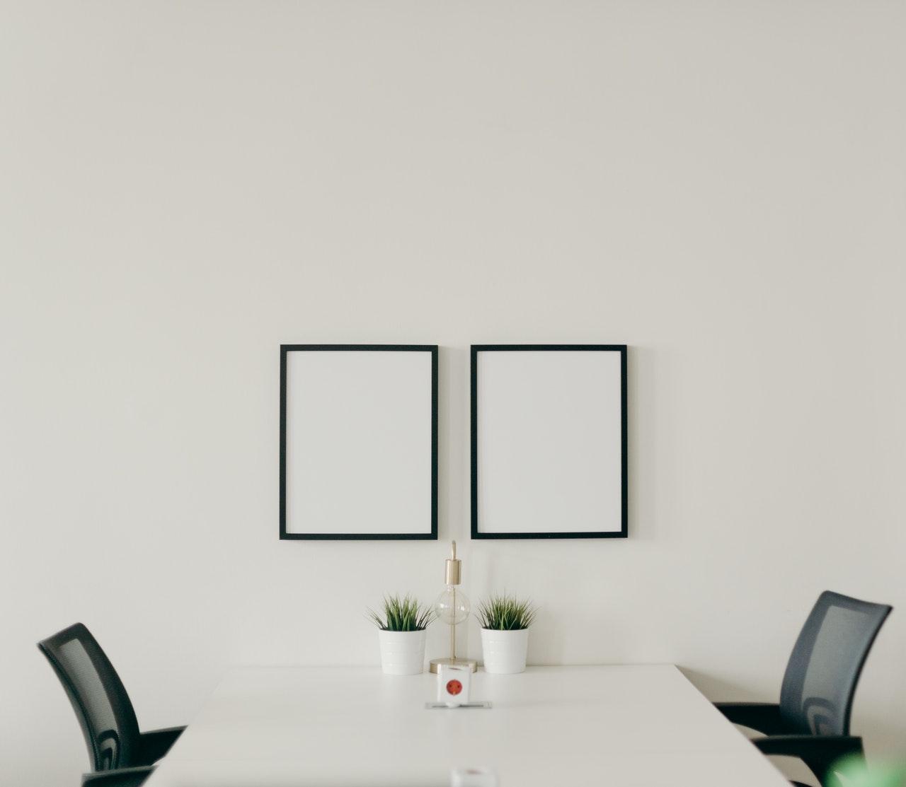 minimalist simple office desk