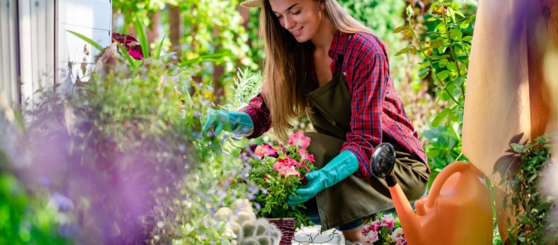 woman doing the gardening